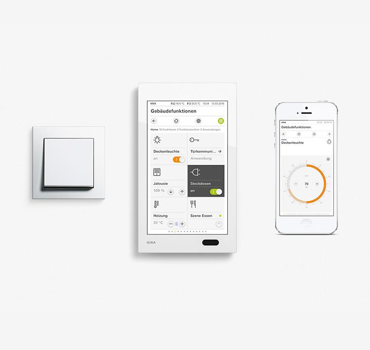 enet smart home ber gira. Black Bedroom Furniture Sets. Home Design Ideas